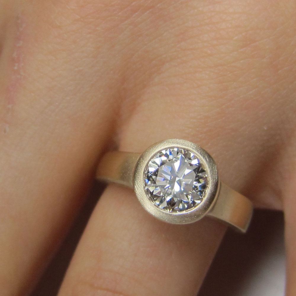 mount only for bezel engagement ring