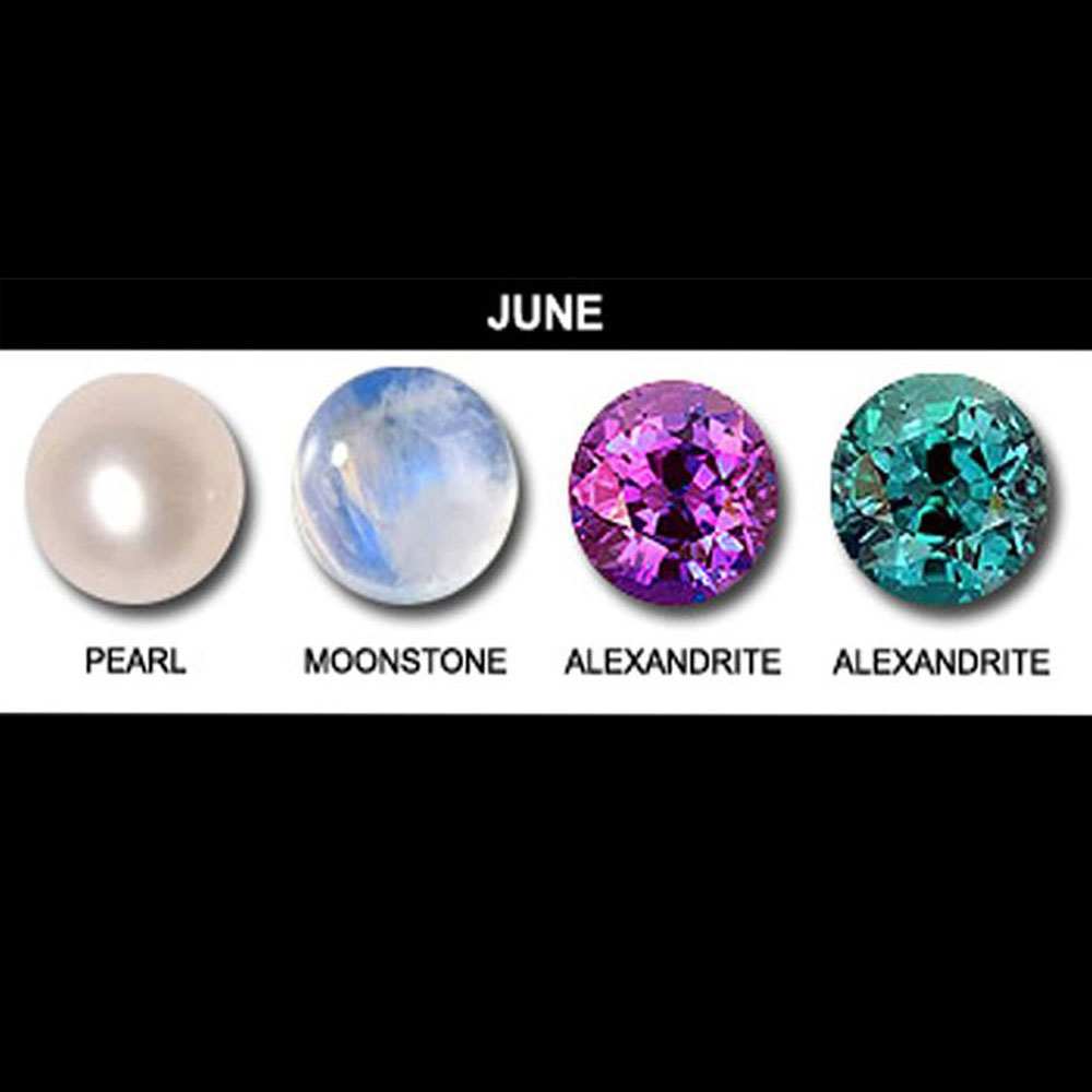 June Birthstone Collage.