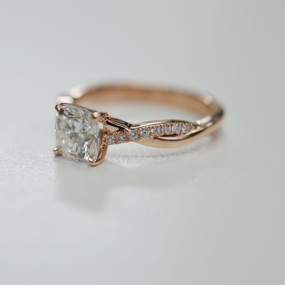 inspirational rose gold engagment ring. Black Bedroom Furniture Sets. Home Design Ideas
