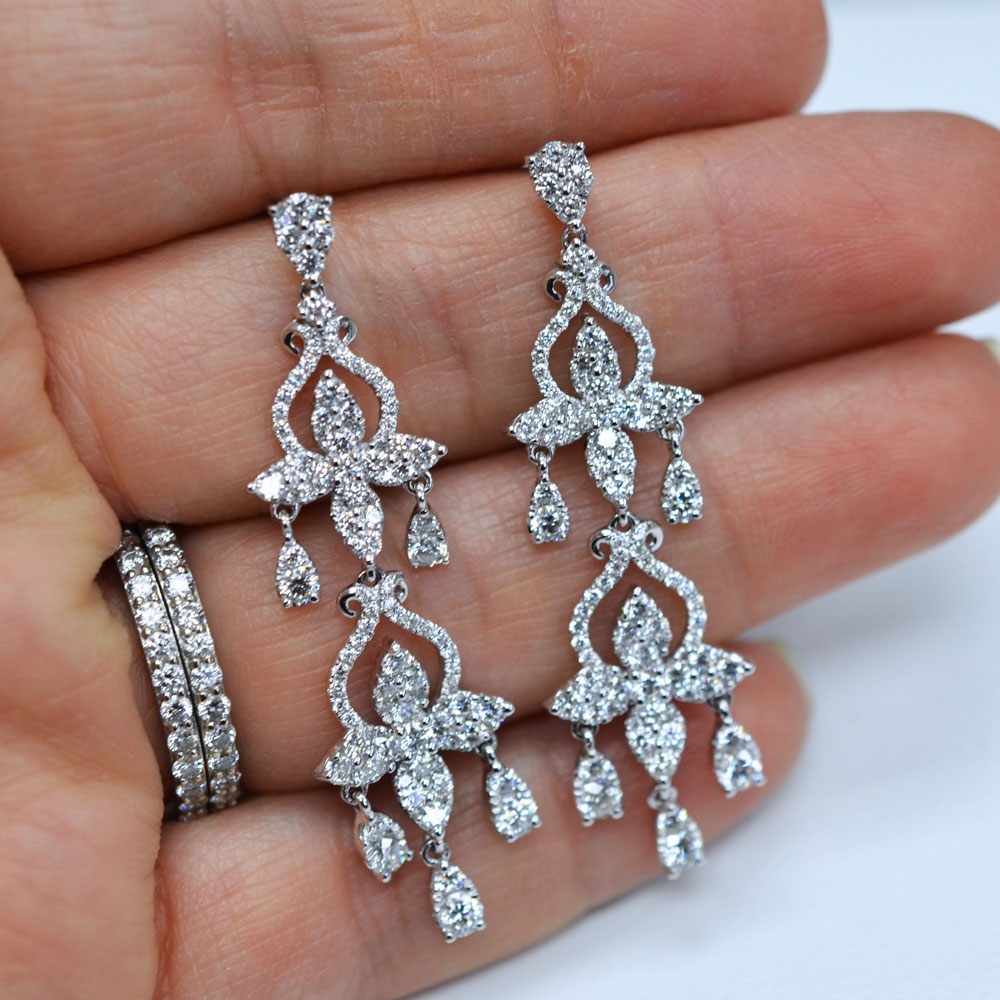 Lastest  Diamond Earrings Gt Unique Diamond Drop Earrings For Women 24ct 14k