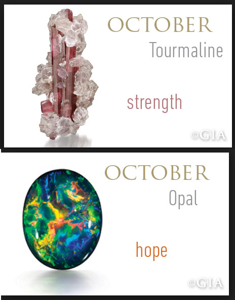 birthstones for the month of October