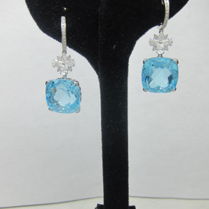Aquamarine Earrings Jewelry
