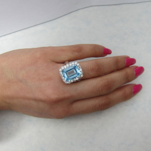 Aquamarine Ring Jewelry