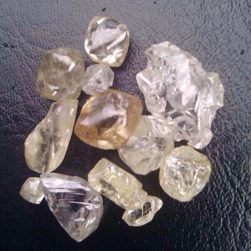 rough diamond in stone