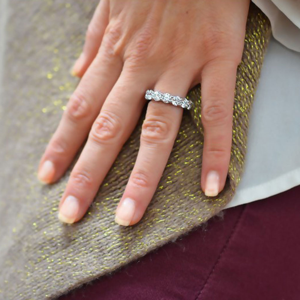 eternity wedding ring - How Do You Wear Your Wedding Rings