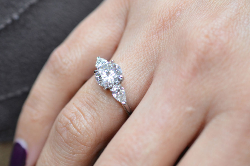 3 Stone Engagement Rings for Her