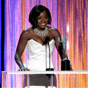Viola Davis Wears a Stunning A Diamond Necklace at the SAG Awards