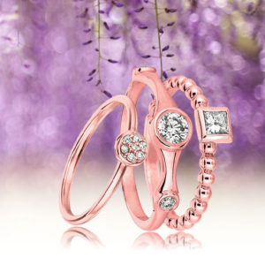 Promise Rings In Rose Gold for Valentine's Gift Ideas