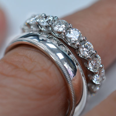 how to wear your wedding band wedding ring - How Do You Wear Your Wedding Rings