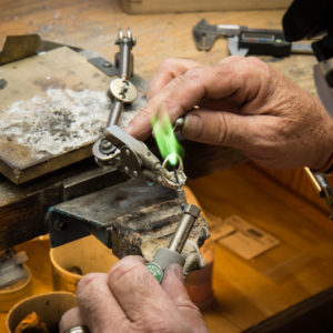 Bench Jeweler At Work
